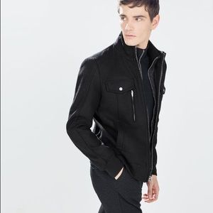 NWT Wool Zara lined men's heavy bomber jacket